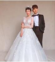 G.O(MBLAQ)&チェ・イェスル、ウエディングフォト撮影「愛してる」の画像