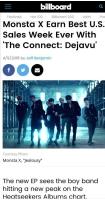「MONSTA X」、米ワールドアルバムチャート2位を記録の画像