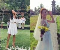 カヒ(元AS)、女優チョン・ヘビンのバリ結婚式で祝歌の画像