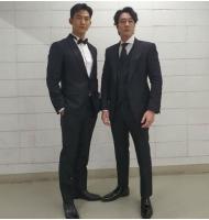 テギョン(2PM)×ソ・ジソブ、モデル顔負けのスーツ姿で2ショットの画像