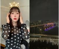 歌手イ・ジヘ、ユ・ジェソク隣マンションでラグジュアリーな漢江ビューの夜景を満喫の画像