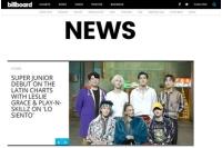 「SUPER JUNIOR」、韓国歌手初ビルボード・ラテンチャートにランクイン!の画像