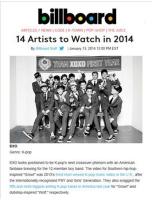 「EXO」 ビルボード「2014注目アーティスト」に選定の画像