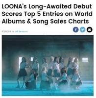 米ビルボード、「今月の少女(LOONA)」を集中照明「大衆に大きなインパクトを与える」の画像