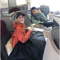 """""""除隊""""Beenzino&ステファニー・ミチョヴァ、ファーストクラスで海外旅行への画像"""