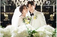 """キソプ(U-KISS)とチョン・ユナ、ウェディンググラビアを公開…""""幸せな瞬間""""の画像"""