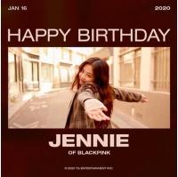 ジェニー(BLACKPINK)きょう(16日)誕生日、ケーキの前で可愛さ爆発..YGとメンバーも祝福の画像