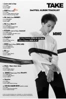 MINO(WINNER)、2ndフルアルバム「TAKE」トラックリスト公開=BOBBY(iKON)がフィーチャリングの画像