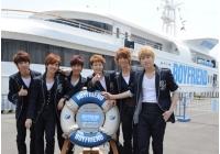 「BOYFRIEND」東京湾での船上記者会見で日本デビューを発表の画像