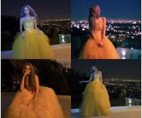 """ジヨン(T-ARA)、インスタにチューブトップドレス姿を公開、""""ディズニー映画のヒロインのようだ…""""の画像"""