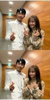 """キム・セジョン(gugudan)、大ファンのトロット歌手イム・ヨンウンと記念写真""""成功したアイドル""""を立証の画像"""