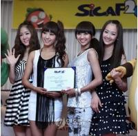 SICAF 2010広報大使の新人グループ<SISTAR>の画像