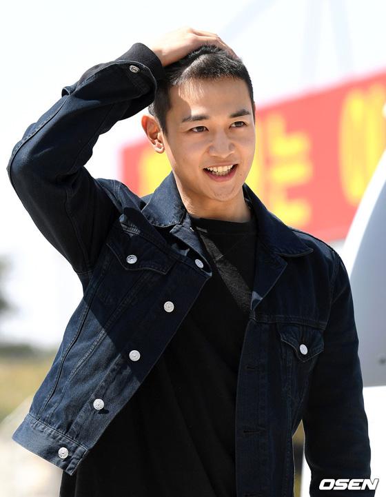「SHINee」ミンホの入隊現場の画像