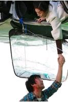 チョ・ハンソン&オム・ジウォン 絶壁で撮影中に負傷! 闘魂発揮し熱演の画像