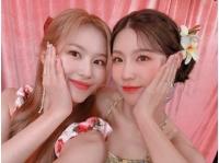 "「TWICE」サナ&「(G)I-DLE」ミヨン、ツーショットを公開!""この組み合わせ大賛成""の画像"