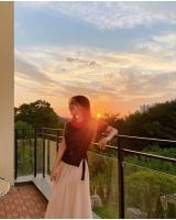 パク・ソングァンの妻イ・ソリ、一戸建て住宅の3階で夕焼け満喫…絵のような絶景の画像