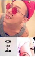 G-DRAGON、水原希子の名前でタトゥー? 「MZH+KK」の画像