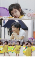 俳優キ・テヨン&ユジン(S.E.S.)夫妻の次女ロリンちゃん、ママのDNA受け継いだ「ダンスの天才」の画像